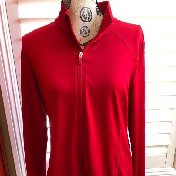 Danskin Now Jackets & Blazers - Danskin Now Red Lycra zip up jacket